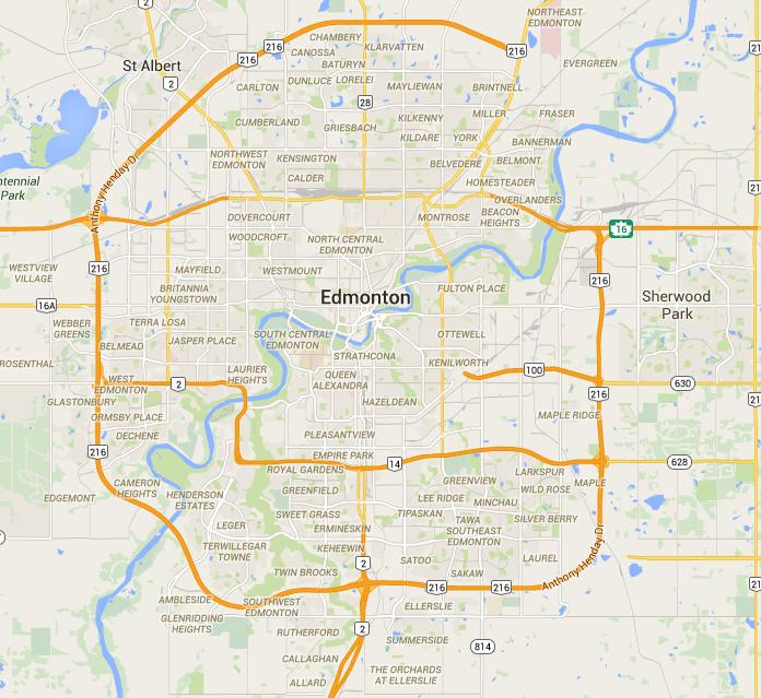 City Of Edmonton Map | compressportnederland Edmonton Map on